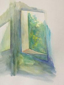 水彩絵の具で描き初め